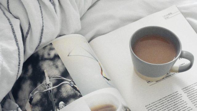 Flow magazine with cup of tea: JOMO