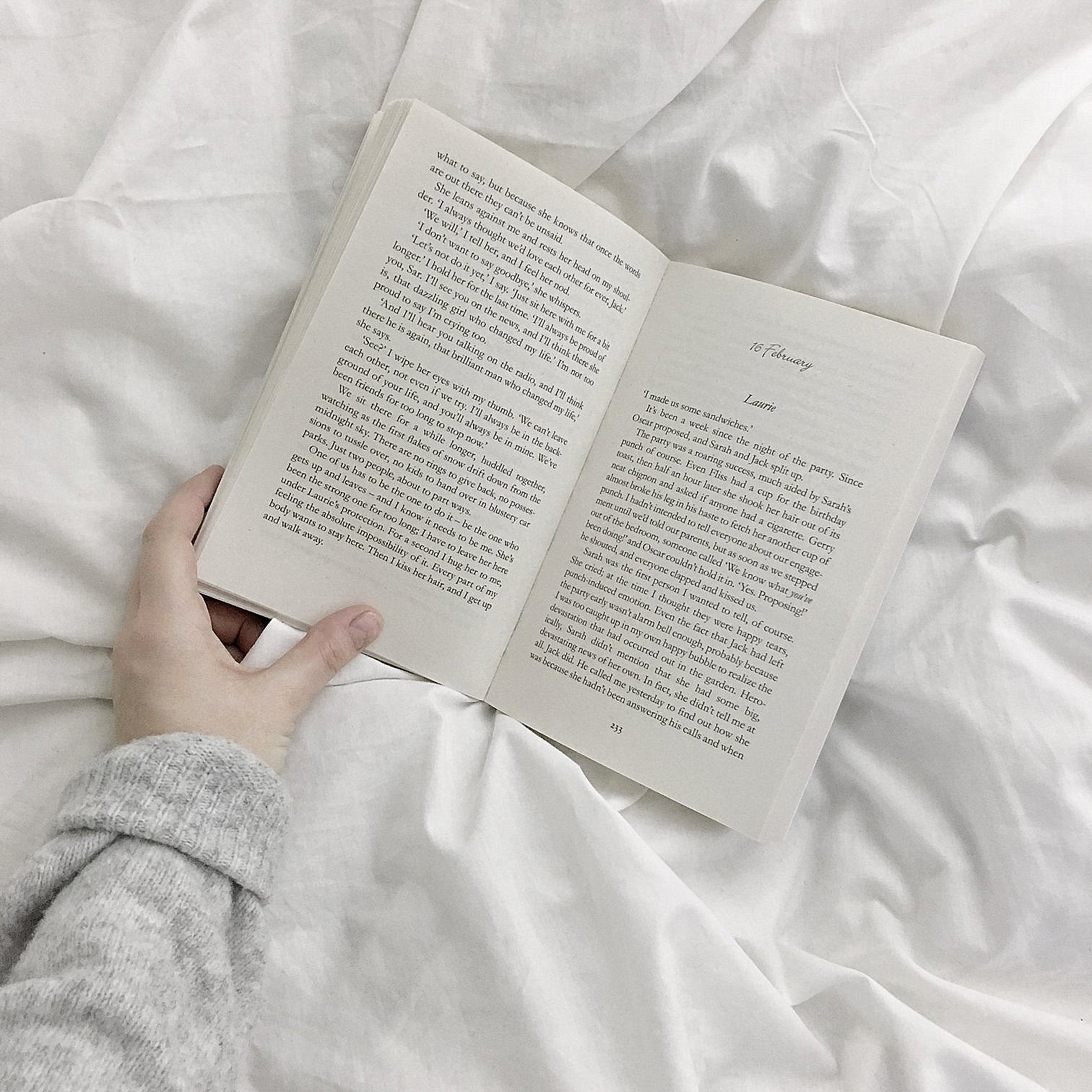 How to meditate in bed: open book on a bed