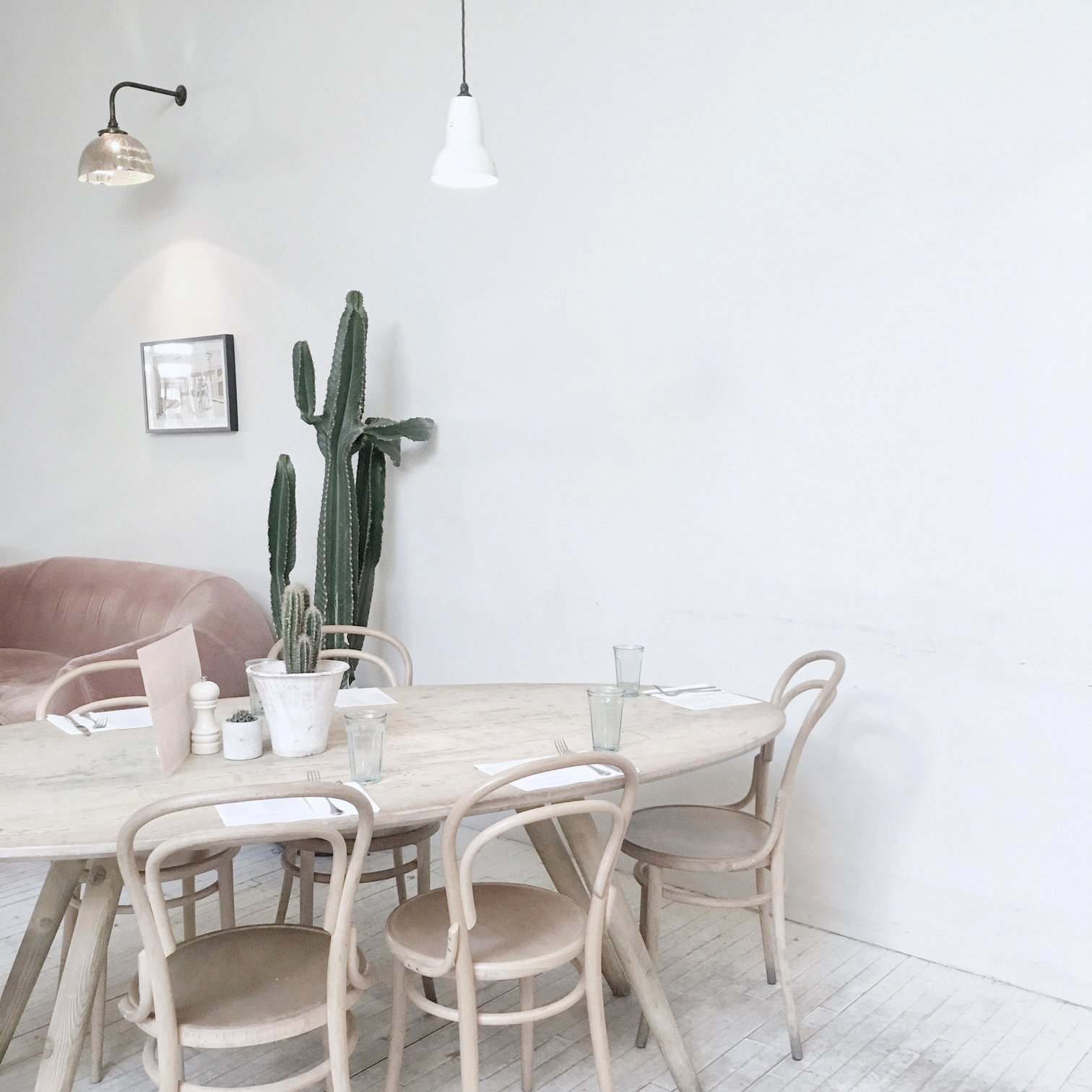 Scandi inspired dining room decor