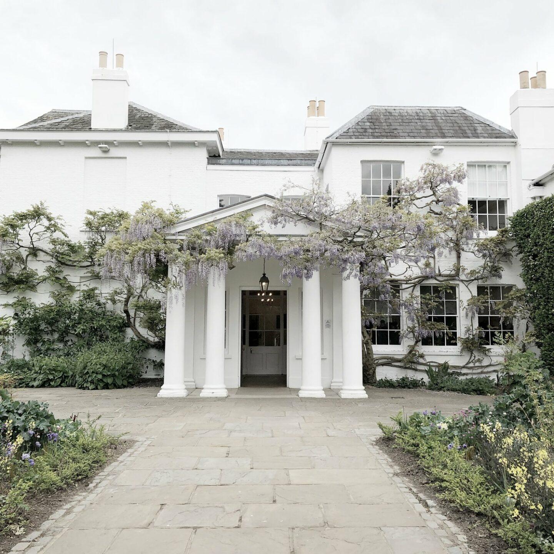 Pembroke Lodge with wisteria