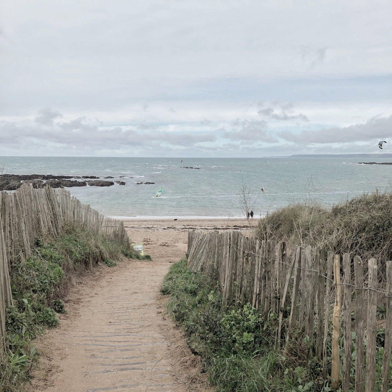 Path to a sandy beach