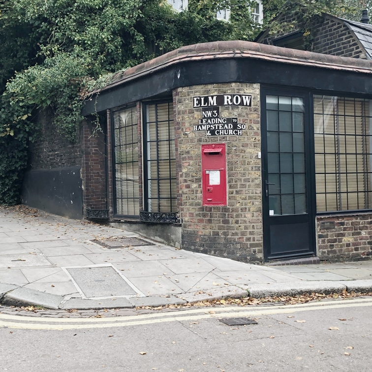 Postbox on Elm Row, Hampstead