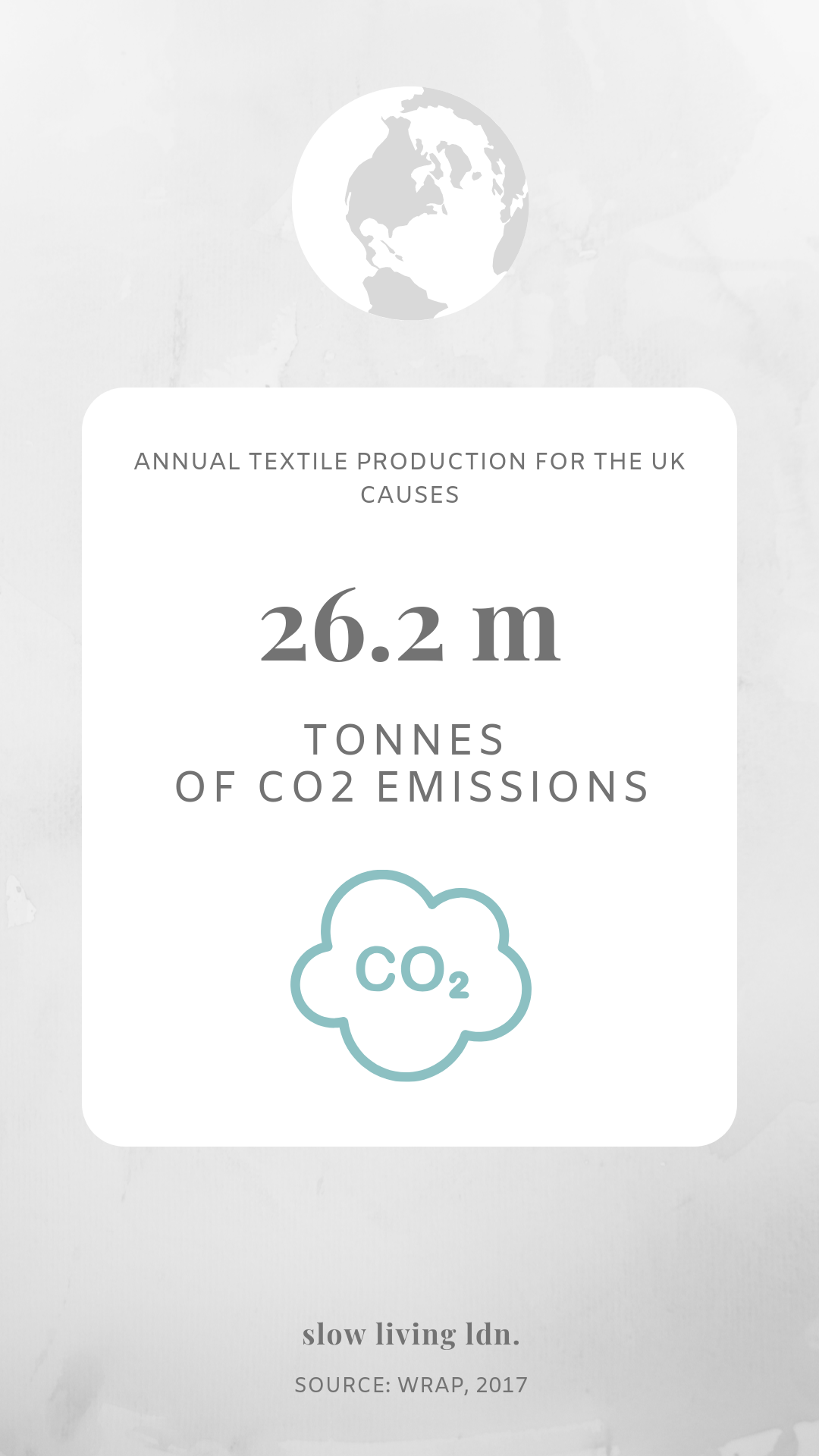 CO2 emissions from fashion infographic