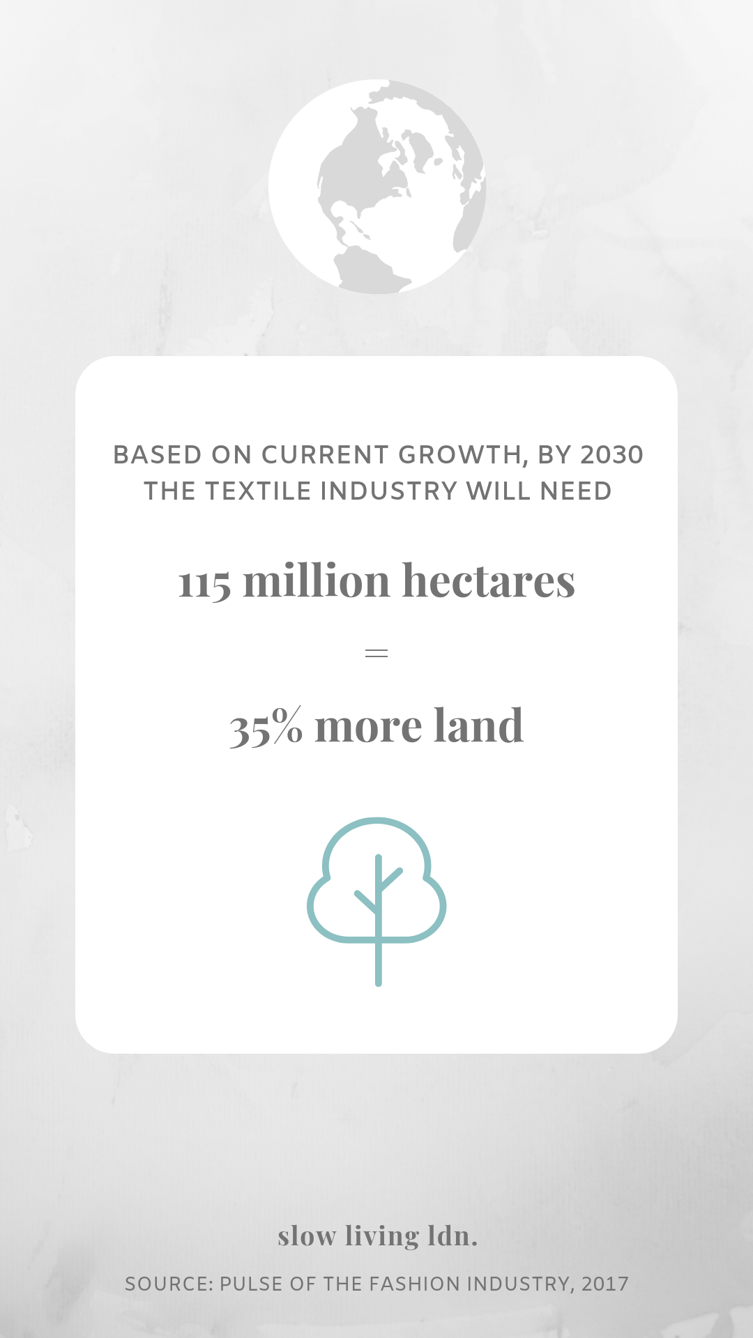 Land use for fast fashion infographic