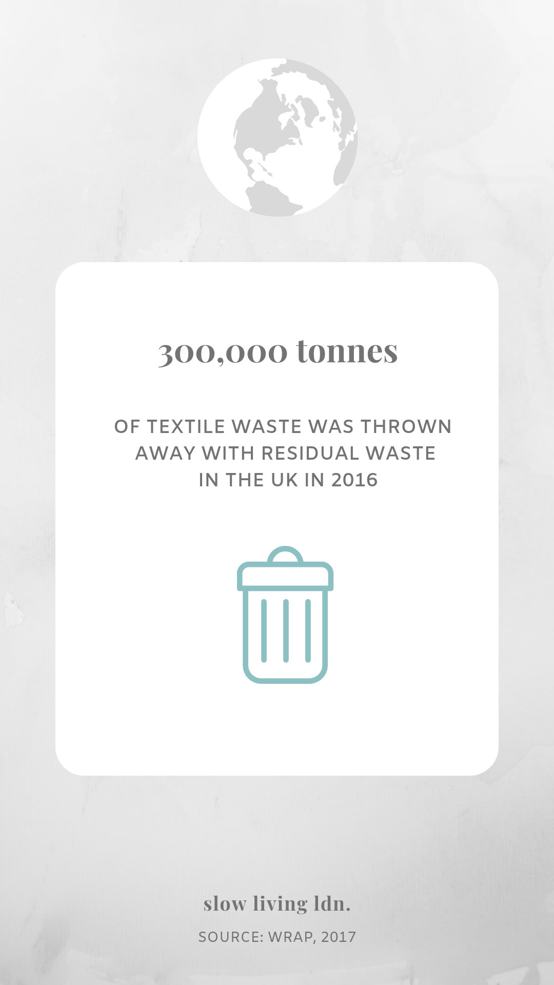 Fashion waste in residual refuse infographic