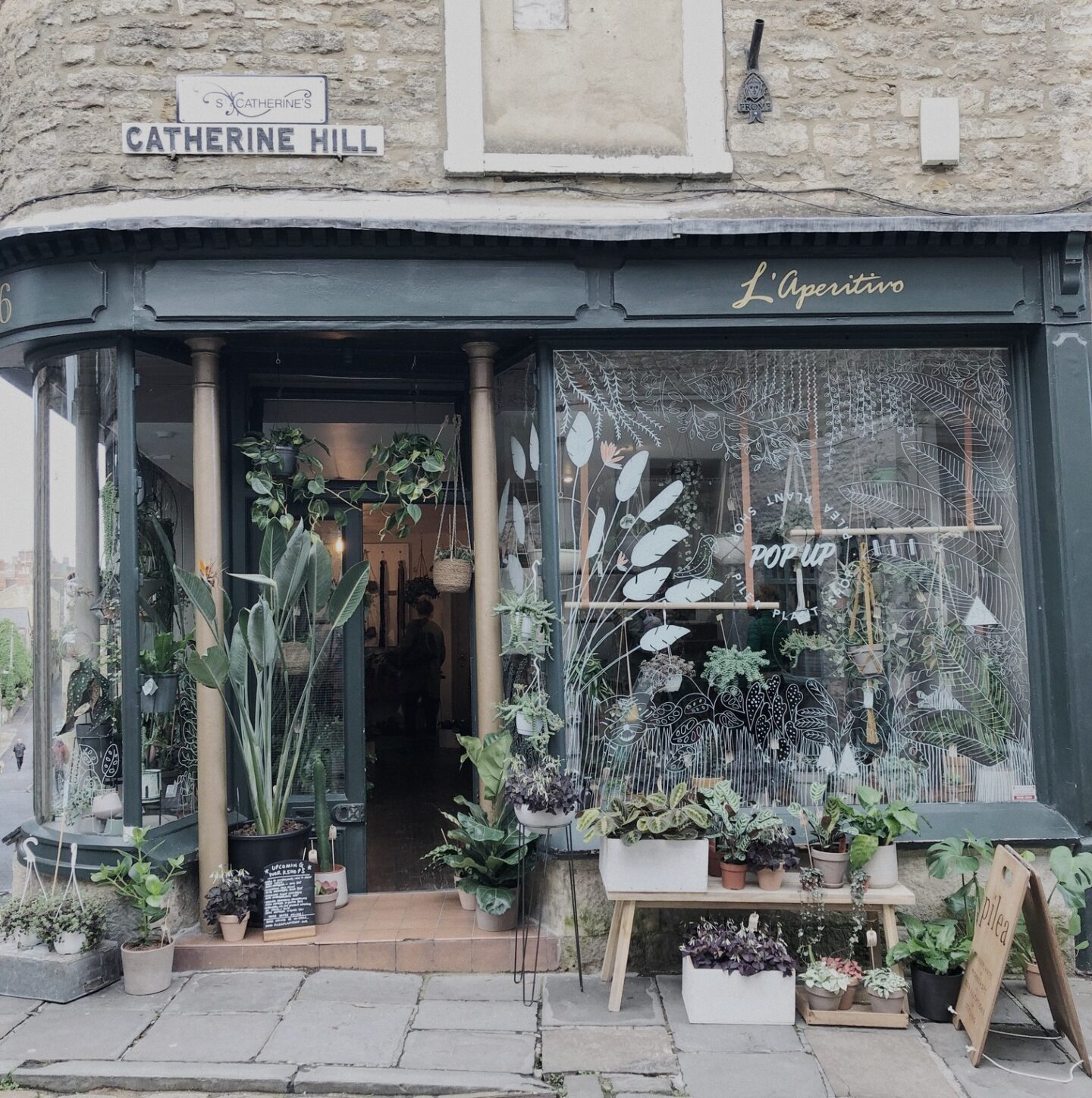 Facade of Pilea plant shop in Frome
